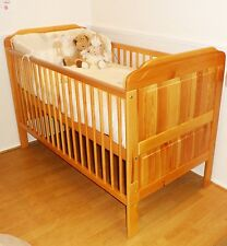 New Solid Pine Cot Bed / Junior Bed and Deluxe Cotbed Mattress / FAST DELIVERY
