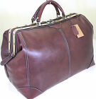 New L Real Italian Leather Holdall Weekend Duffel Weekend Cabin Travel Bag Case