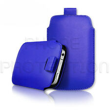 Quality Slim Leather Pull Tab Flip Case Cover Pouch for Various Mobile Phones