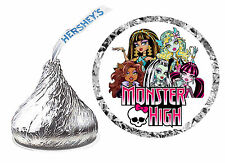 216 MONSTER HIGH BIRTHDAY PARTY FAVORS HERSHEY KISS LABELS