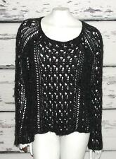 FREE PEOPLE~AS SEEN ON TV  *PEGASUS-WRAPED IN CABLES* SLOUCHY CROCHET SWEATER~S