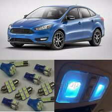 9×ICE Blue LED Interior Light Package Kit for Ford Focus 2012-2015