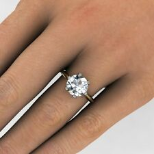 2.20ct Natural Round Solitaire Diamond Engagement Ring - GIA Certified