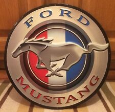 "Ford Mustang 12"" Metal Advertisement Signs Garage Shop Man Cave Gas Oil New"