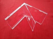 2 Double CD Jewel Case 10.4mm Spine with Clear Tray New Empty Replacement Cover