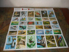 National Wildlife Federation 1966 Conservation Stamps ~ FULL SHEET OF 36~ NICE~