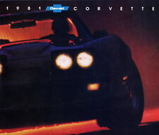 1981 Chevrolet Corvette originale USA BROCHURE DI VENDITA