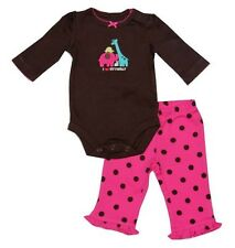 "Carter's 2-pc Bodysuit & Pull-On Pants Set ""I Love My Family"" (GBC-JP31), NB"