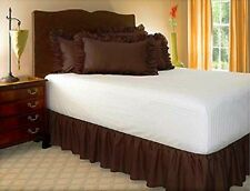 14 INCH DROP SOLID RUFFLE EASY FIT SET UP PLEATED ALL CORNERS BED SKIRT 1 PC