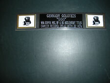 GENNADY GOLOVKIN (BOXING) NAMEPLATE FOR SIGNED GLOVES/TRUNKS/PHOTO DISPLAY