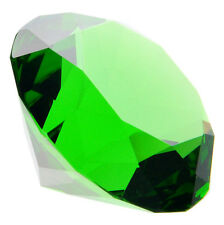60mm Green Crystal Diamond Shape Paperweight Glass Gem Display Ornament Gift