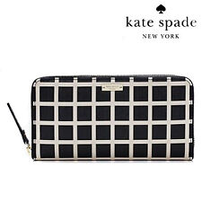 Kate Spade Wallet PWRU4146 NEDA Charles Street Fabric Lacey Black Pebble
