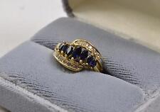Genuine Saphire 10K Yellow Gold Ring Size 7 CC7-F-