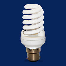 Spiral Light Bulb 20W Energy Saving 100W Light Out Put B22 Bayonet Cap Pack Of 2
