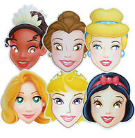 DISNEY PRINCESS MULTIPACK - 6 FUN PARTY FACE MASKS - LICENSED PRODUCT