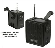 Emergency Prep Solar RADIO Hand Crank Weather Hurricane Tornado Hiking Camping