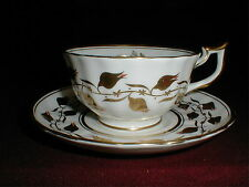 Royal Chelsea Bone China England GOLDEN RUST/Red #3483A/R Cup Saucer