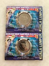 (JC) 2pcs 21st KL SEA Games Coin Card 2001