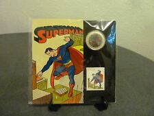 CANADA 2013 SUPERMAN THEN/NOW 50 CENT LENTICULAR COIN & STAMP SET - SEALED SET
