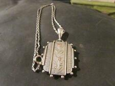 Fab Victorian Quality Aesthetic, Solid Silver & Gold Book Collar Locket & Chain