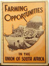 1936 Farming Opportunities in the Union of South Africa vintage promotinal book