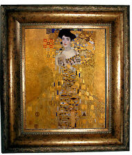 Klimt Adele Bloch-Bauer I Portrait - Antique Gold Framed Canvas Print 8x10