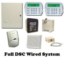 Full DSC Hard-wired Security System - PK5501 Keypad -RFK5501 KP- PC 1616 Panel