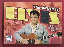 ELVIS PRESLEY RELIC MEMORABILIA WORN JACKET PIECE 2002 TOPPS AMERICAN PIE KING