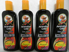 LOT OF 4 PACK AUSTRALIAN GOLD ACCELERATOR INDOOR TANNING BED SUN TAN LOTION NEW
