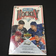 1991-92 Upper Deck Hockey -Box of 36 Unopened 12 Card Packs