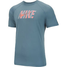 Nike NESS6448 483 Hydro UV Eclipse Wave Logo Short Sleeve T-Shirt Men's Size S/P