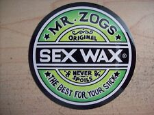 MR ZOGS SEX WAX SURF SURFING DECAL STICKER
