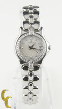 Bertolucci Stainless Steel Women's Quartz Watch MOP Dial w/ Diamonds 083 41A