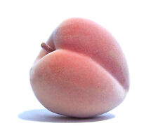 Artificial Peach Large - Plastic Fruit Peaches Pink Fake Textured