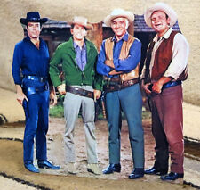 "Bonanza TV, Paw, Hoss, Little Joe & Adam Figure Tabletop Display Standee 8"" Tall"