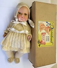 "Very Early Rosebud Hard Plastic Doll 10"" Painted Eye Baby Doll 74/4/0 Boxed"