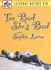 """Too Bad She's Bad"" DVD READ DETAILS SATURDAY MATINEE SOPHIA LOREN ITALIAN ENGL"
