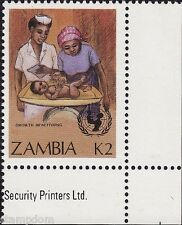 ZAMBIA UN 1988 Child Survival Campaign K2 & K2.85 MNH @E637