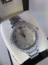 New Anne Klein AK/2099SVSV Silver Tone Bracelet Crystal Women's Watch