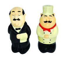 Chef and Waiter Talking Salt and Pepper Shaker BRAND NEW Big Mouth Toys