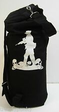 Black Bag Backpack Handbag School Gym Camping Exercise Travel Skull Men Women