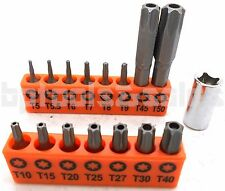 16pc Security Torx Bit Set Tamper Proof Star T5 T7 T10 T15 T20 T25 T30 T40 T50