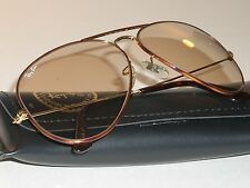 VINTAGE B&L RAY BAN L1707 YTAS TORTUGA BROWN CHANGEABLES AVIATOR SUNGLASSES MINT