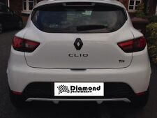 Renault Clio 4 2014+ GLOSS BLACK REAR  BADGE EMBLEM COVER various colours