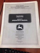 John Deere Operator's Manual Push Spreaders LP3050, LP3100 #OMM158454 Issue B8