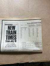 H1-1 ephemera 1967 article british rail southern region train times july 10th