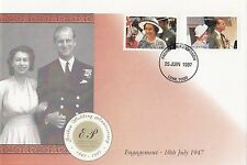 (43432) Togo FDC Queen Golden Wedding 25 June 1997