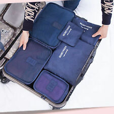 6 Pcs Waterproof Travel Laundry Pouch Cosmetics Make-up Bags Organizer