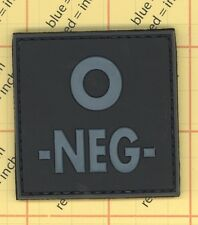 PVC Blood Type 0 NEG O- OD URBAN Tags Tactical Patch Morale 3D Negative SWAT 0-