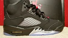 NIKE AIR JORDAN 5 RETRO OG Size 7 Red Black Silver White 845035-003 Mens Shoes